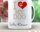Caneca I Love My Dog Golden - 857