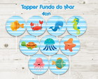 Topper Fundo do Mar