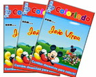 Revista colorir a casa do Mickey 14x10