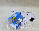 *Porta chocolate Triplo Snoopy