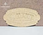 Placa decorativa Mopar Chrysler MDF cru