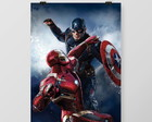 Quadro Guerra Civil Marvel