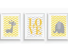Arte Digital Animais Baby Chevron