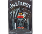 Placa Metal Whisky Jack Daniels