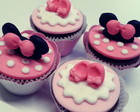Mini cupcake Minnie Rosa