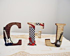 Letras Decoradas com Papel Scrapbook