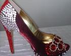 Sapatos Peep Toe Red Glamours