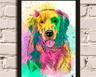Quadro Dog Color com Moldura