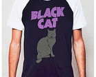 CAMISETA RAGLAN - BLACK CAT