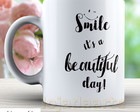 Caneca Smile Beautiful Day - Cód: 1450