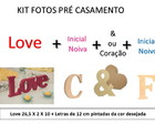 KIT Love + Letras 3 em MDF BlackFriday