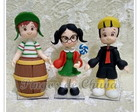 Trio bonecos Turma do Chaves Biscuit