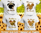 4 Camisetas Mickey Minnie Safári Anivers
