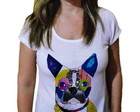 Camiseta Feminina Pug Dog Collage