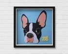 Boston Terrier - Quadro Scrap