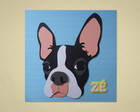 Boston Terrier - Arte para Quadro Scrap