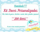 Kit 200 Doces Personalizados