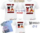 Kit de Camisetas do Mickey e Minnie.