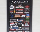 Poster com moldura Friends Quotes!