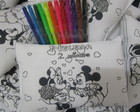 ALMOFADA COLORIR MICKEY E MINNIE