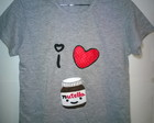 Camiseta bordada I love nutella
