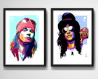 2 Quadros Axl & Slash Guns Roses