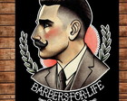 Placa Retro Barber Shop 8