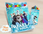 Kit colorir com giz de cera Frozen