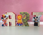 Letras 3D em papel tema Circo do Mickey