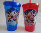 Copo c/ Canudo 400ml Mickey e Minnie 01