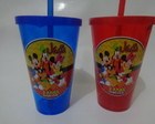 Copo c/ Canudo 550ml Turma do Mickey 01