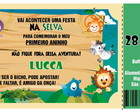 Convite Selva Safari Ticket