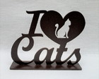 Placa Decorativa Love Cats