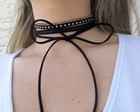 Kit 3 colares gargantilha chocker preto