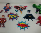 Kit Toppers para bolo Super Herois
