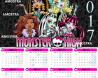 Calendario lembrança 2017 Monster High