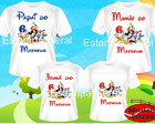 Camisetas Aniversario casa do mickey c/4