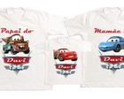 kit 3 camisetas personalizadas Carros 2