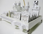 Kit Toilette Floral Shabby Chic Branco