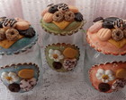 pote biscuit bolachas e flores