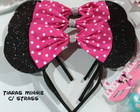 Tiara Minnie com strass
