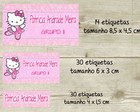 Kit Adesivo Material Escolar Hello Kitty