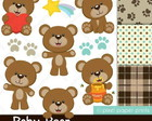 Kit Scrap Digital Baby Bear