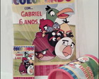 kit de colorir com cofre angry birds