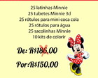 Kit Festa Personalizados Minnie