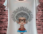 T Shirt Frida Kahlo Cocar