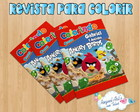 Revista de colorir Angry Birds 3