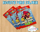 Revista de colorir Angry Birds 4