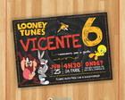 Convite Digital Looney Tunes