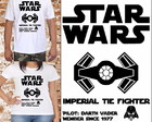 Camiseta Tie Fighter - Darth Vader
